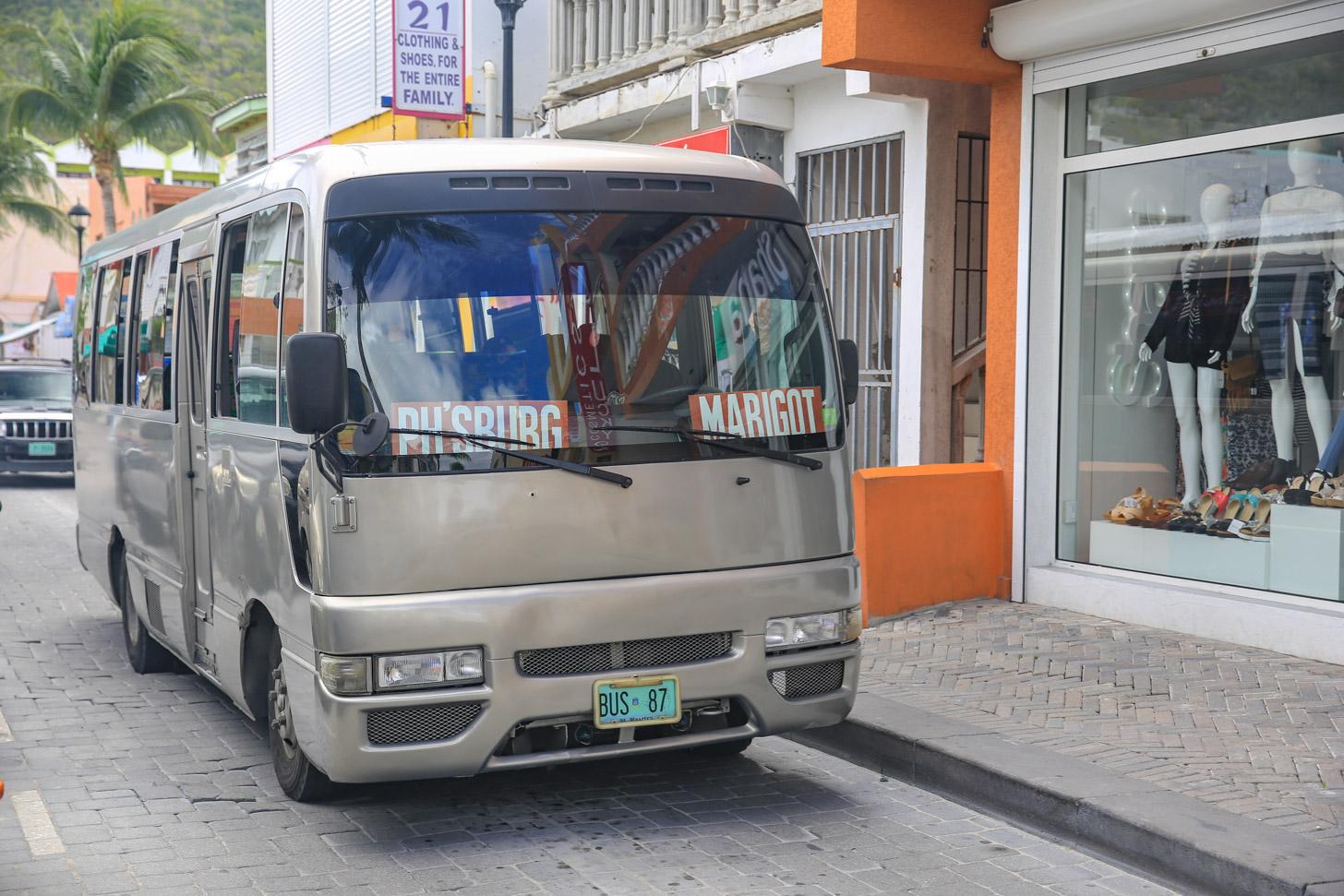 Bussen op Sint Maarten