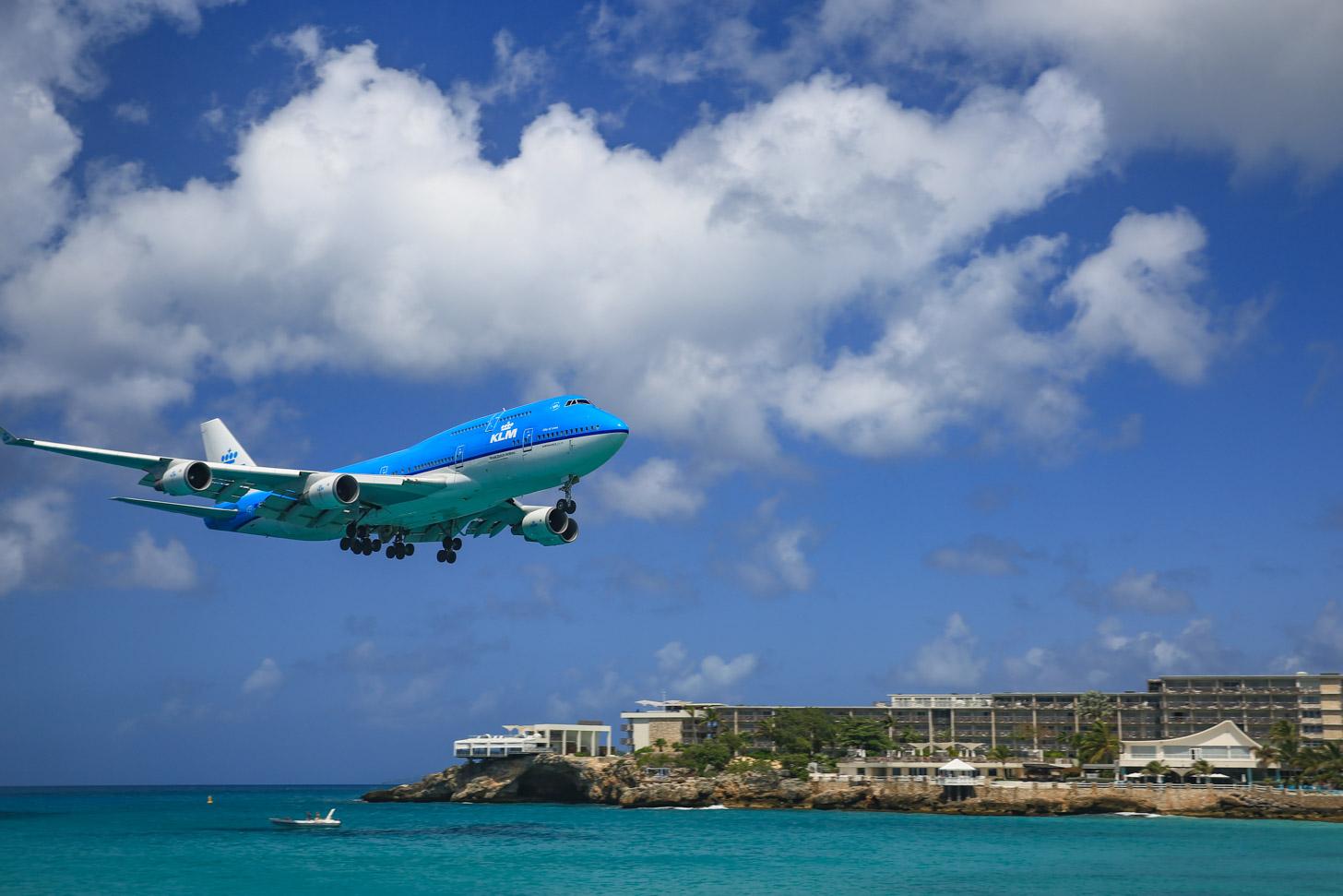 Met KLM naar Sint Maarten